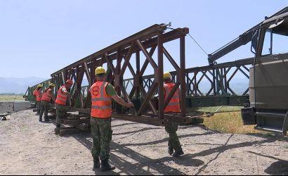 Ndërtimi i urës në fshatit Voskop