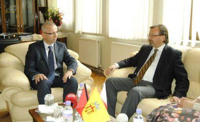 Ambasadori i Polonise Marek Jeziorski viziton Bashkine Korce