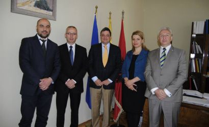 Ambasadori i OSBE-se Florian Rauning viziton Bashkine Korce