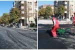 Vazhdon puna për shtrimin e rrugës në hyrje të pazarit të qytetit